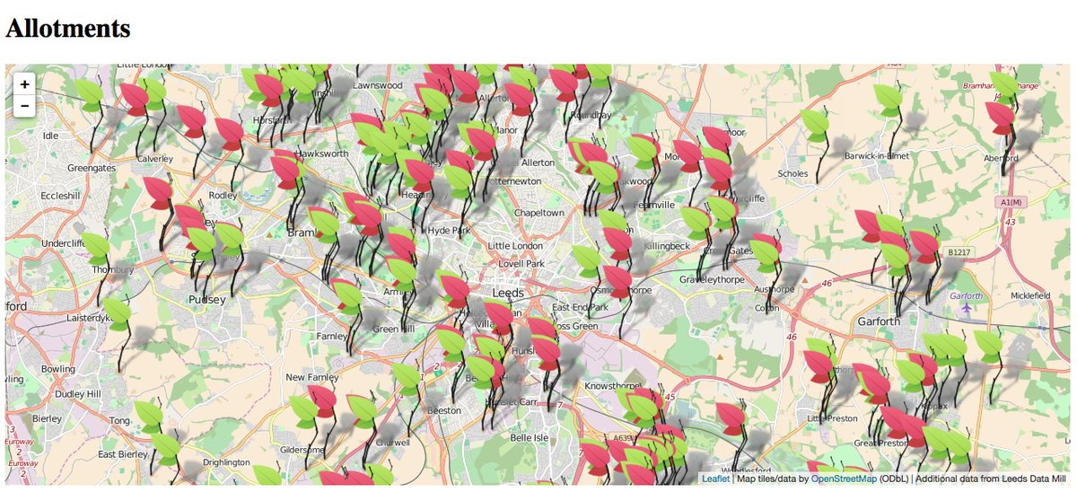 Allotment map of Leeds